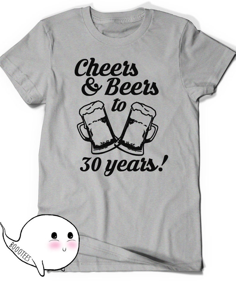 50af856f7 Cheers and Beers 30th Birthday Shirt Funny Tshirt T-Shirt T | Etsy