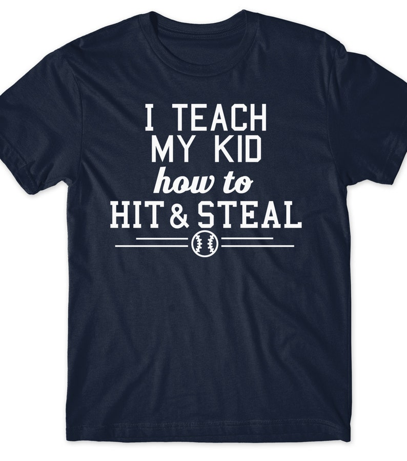 18652c08 Father's Day Gift Idea Funny Baseball Shirt Dad Mom   Etsy