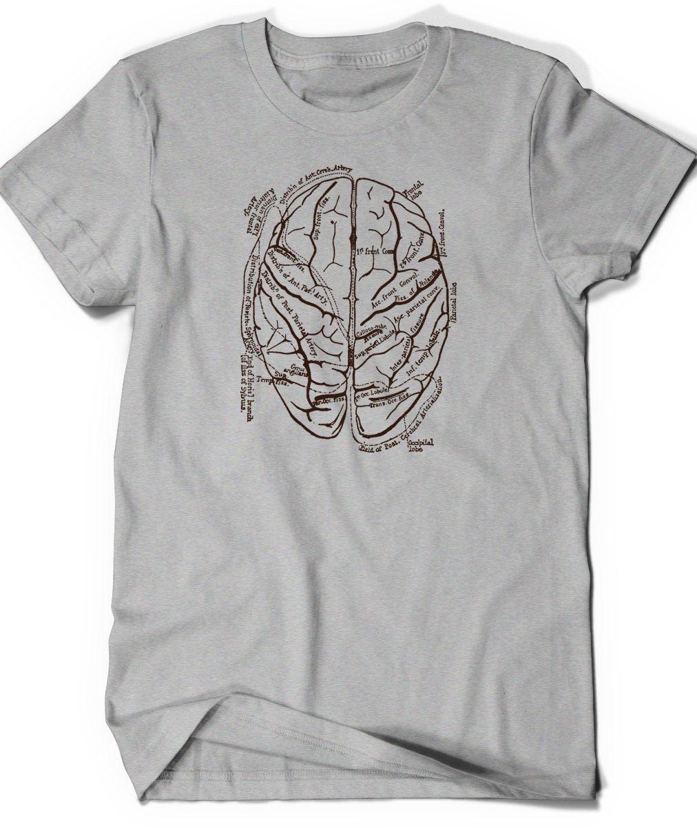 Anatomical Brain Shirt T Shirt T-Shirt Tee Men Women Ladies | Etsy