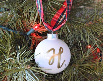 personalized Christmas ornament, monogram ornament, 2017 ornament, personalized gift, christmas tree ornament, wedding gift, gifts for women
