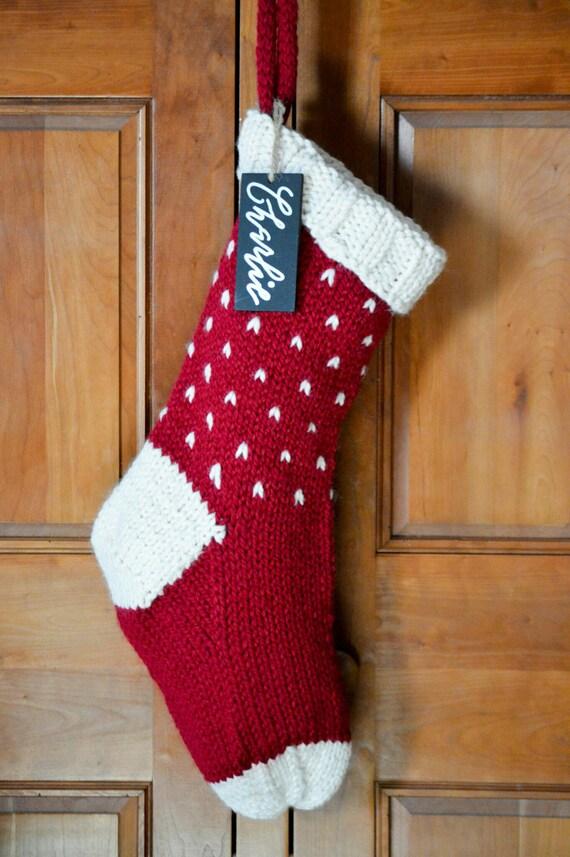 personalized christmas stockings knit christmas stockings   Etsy