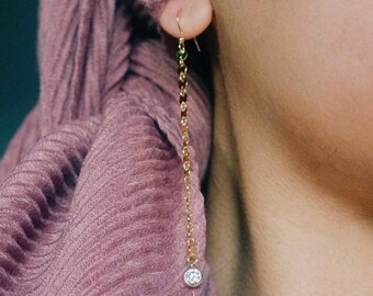 Long coin stone earrings,disc earrings, coin earrings,gold dangle earrings,long stone earrings,long coin earrings,coachella jewelry, minimal