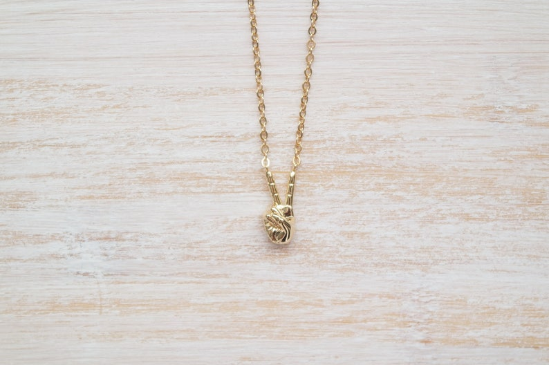 Symbol Necklace Peace Hand Necklace Gift For Girls Hand Necklace Gold Hand Necklace Hand Necklace Peace sign necklace