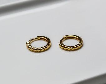 Delicate Earrings Gold * Small Tire Earrings * Earring Gold * Gold Earrings * Gold Creole *Sterling Silver * Gift