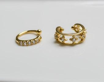 Ear Cuff Gold * Dainty Ear Cuff gold * Sterling Silver Ear Cuff * Minimalist Ear Cuff Set * Minimalist Jewelry