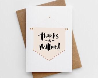 Thank You Card Pretty Thank You Card French Card Modern   Etsy