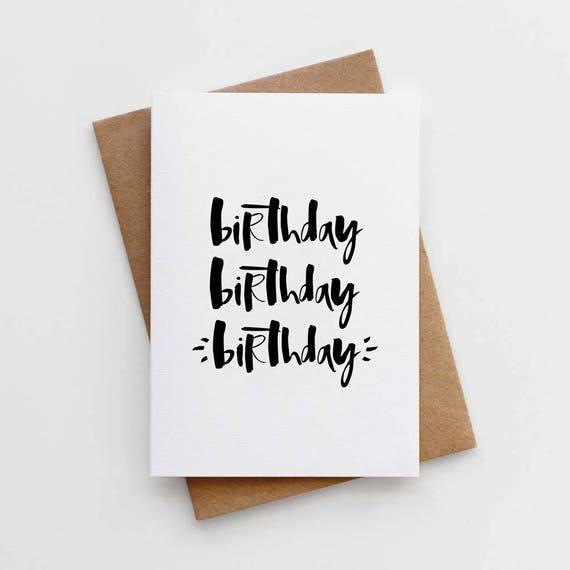 Unisex Birthday Card Card For Boyfriend Modern Birthday Etsy