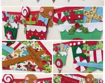 Christmas decoration, Christmas bunting, Christmas train