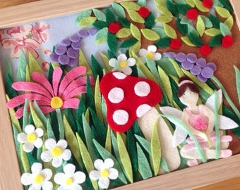 Fairy home decor - picture frame