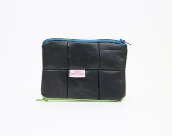 Black vegan Wallet, sustainable purse, eco friendly purse, blue wallet, minimal wallet, gift for women, gift for men, zero waste