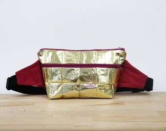 Sustainable Fanny Pack made from recycled coffee bags, vegan fanny bag, cross body bag, sustainable bag, gift, upcycling, zero waste