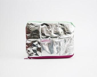 Vegan Wallet, sustainable purse, eco friendly purse, silver wallet, minimal wallet, gift for women, gift for men, zero waste