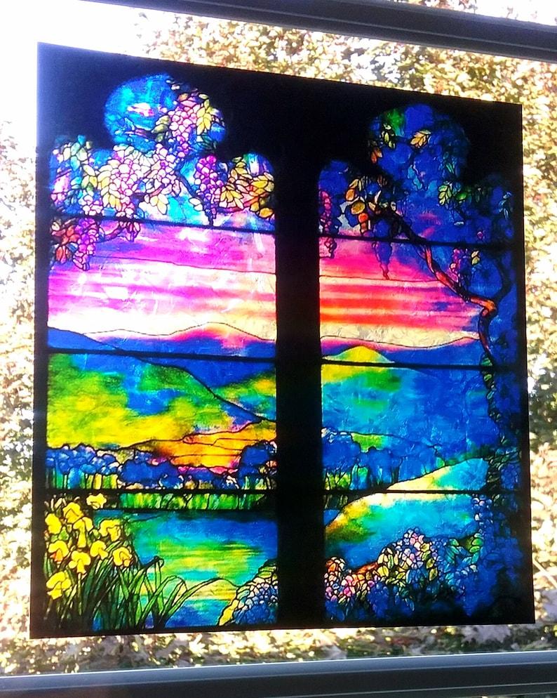 Tiffany Fenster Cling Glasmalerei Farbe Wisteria   Etsy