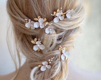 Rose Mary | Bridal Bobby Pins, Floral Bobby Pins, Floral Headpiece, Wedding Headpiece, Bridal Hair pins, JONIDA RIPANI - Made in Italy