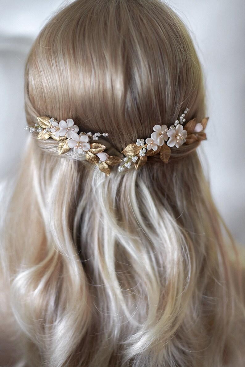 Floral Headpiece Bridal Comb Capri JONIDA RIPANI Made in Italy Flower Comb Floral Pin Bridal Headpiece