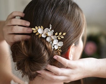 Giulia | Bridal Headpiece, Bridal Comb, Floral Headpiece, Whimsical Headpiece, JONIDA RIPANI - Made In Italy