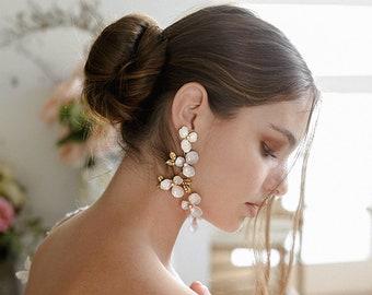 Giulia | Flower Bridal Earrings, Enchanted Bridal Earrings, Floral Earrings, Garden Earrings, Statement Earrings, JONIDA RIPANI