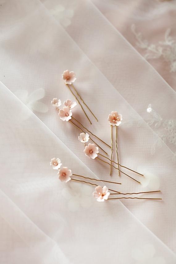 Floral Pin Flower Comb Bridal Headpiece Bridal Comb Capri Floral Headpiece Made in Italy JONIDA RIPANI