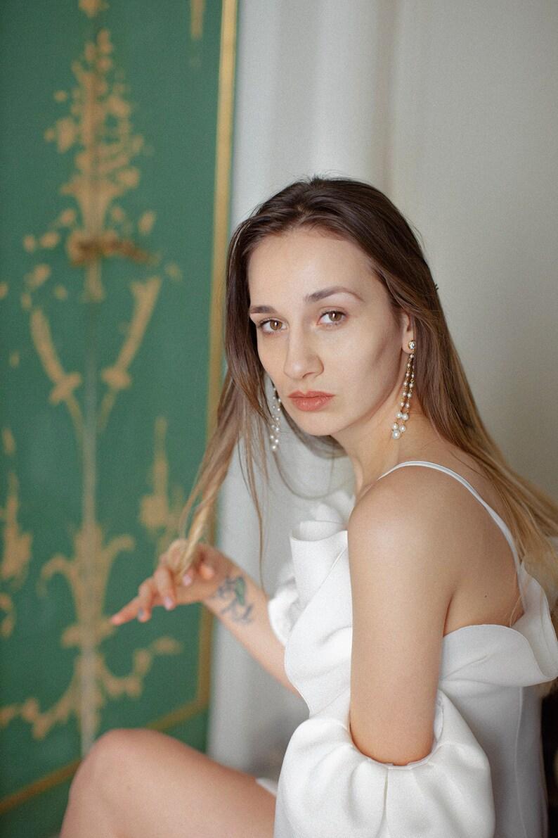 Statement Earrings Como JONIDA RIPANI Flower Earrings Pearl Earrings Bridal Statement Earrings Made In Italy Garden Earrings