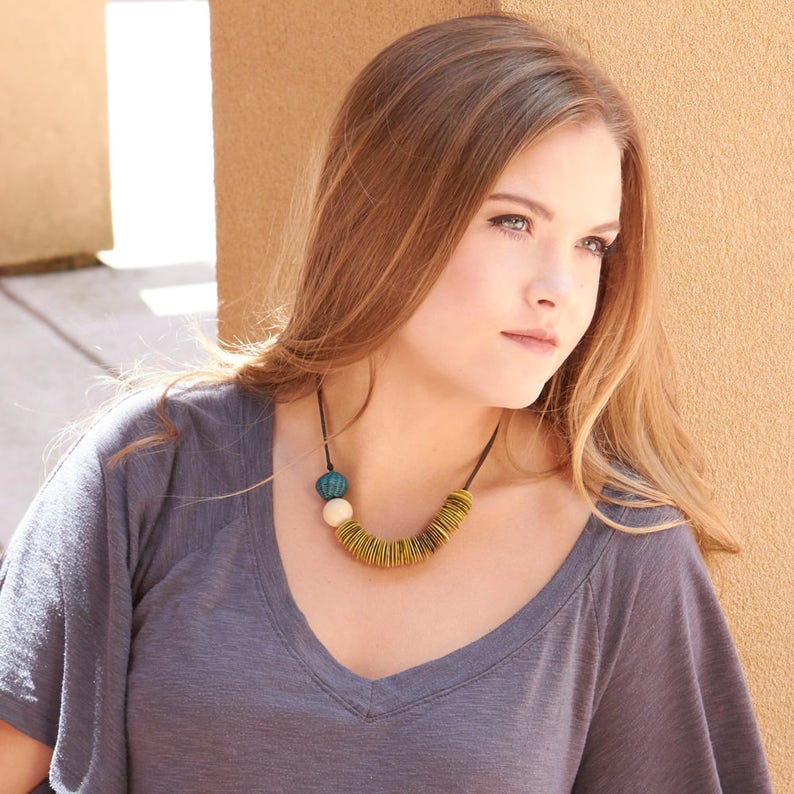 CestoTagua Necklace Eco Friendly Necklace Colombia Sustainable Necklace