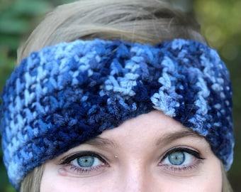 Crochet Twist Headband | Twisted Turban Headwrap | Twisty Textured Earwarmer | Messy Bun Beanie | Ear Warmer | Winter Wear | Gift Under 30