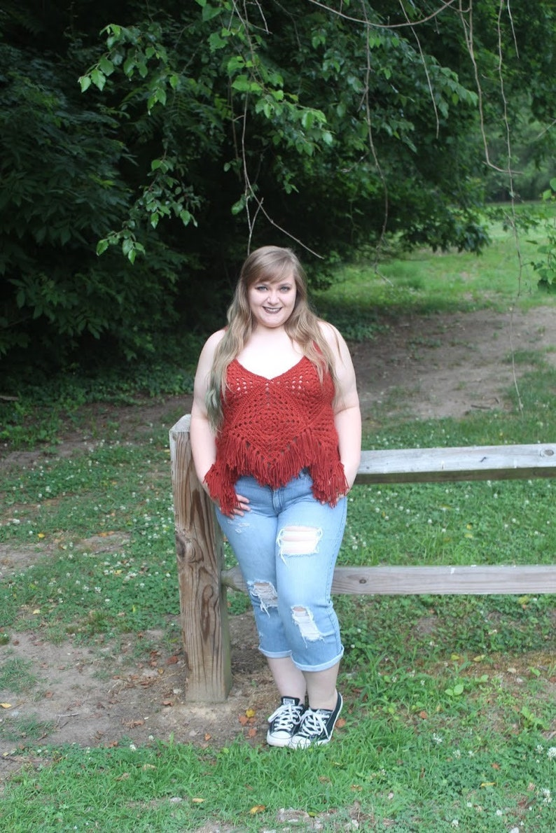 Summer Lovin' Boho Tank Top  Crochet Granny Square Tank image 0
