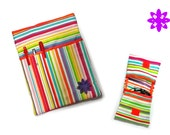Tech Kit: fabric case for iPad, tablet or eBook + pochette pour chargeurs