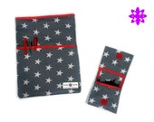 Stars Kit: fabric case for iPad, tablet or eBook + pochette pour chargeurs