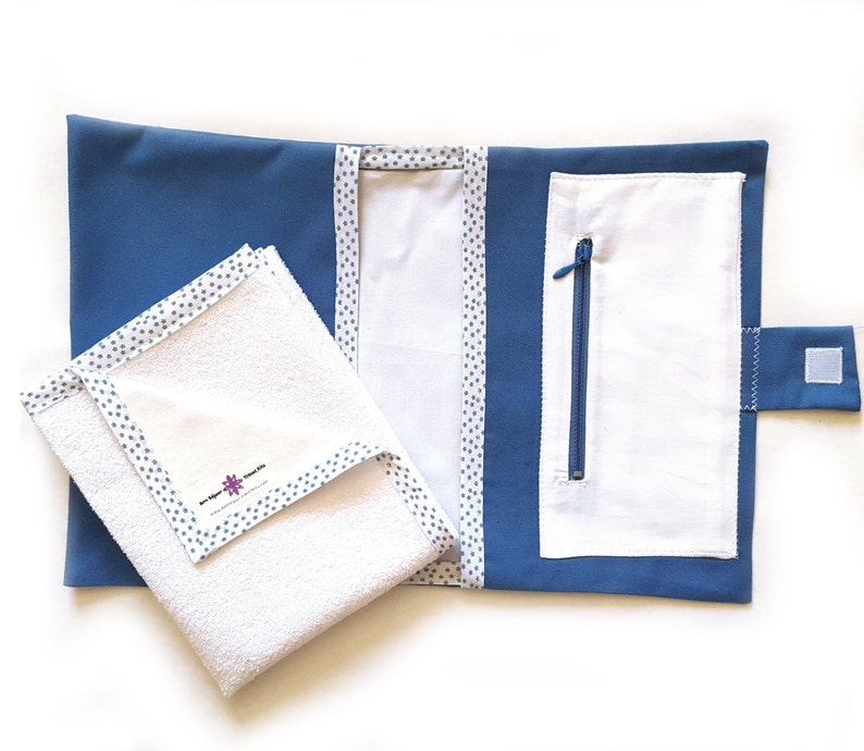 Bag for nappies and wipes with pocket image 0