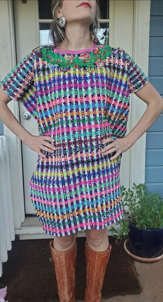 Vintage Mexican Huipil dress • medium - image 9