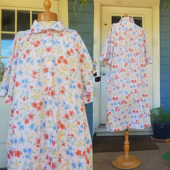 1980s house dress • size large
