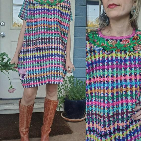 Vintage Mexican Huipil dress • medium - image 8
