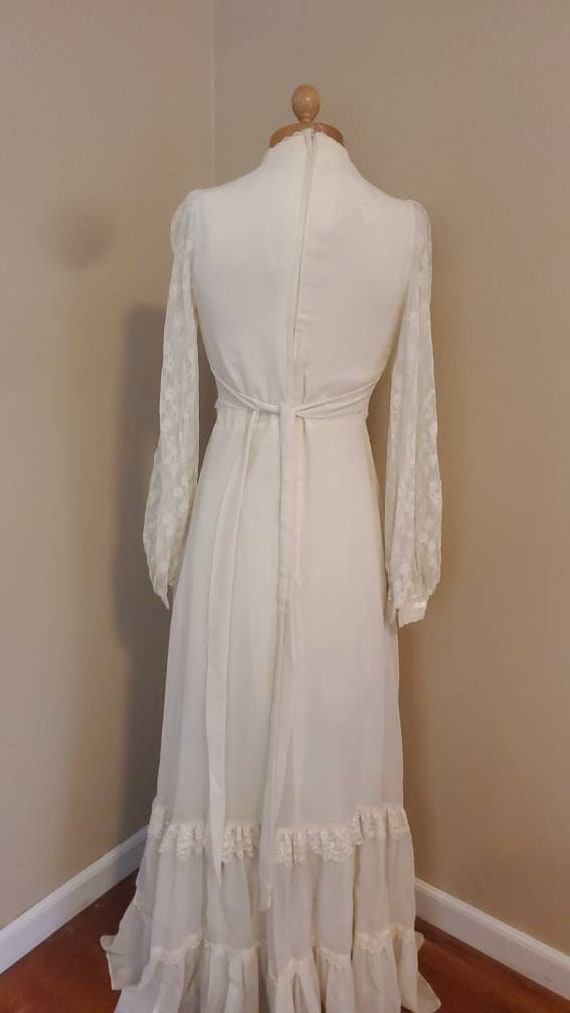 Gunne Sax 1970s dress prairie wedding dress - image 9