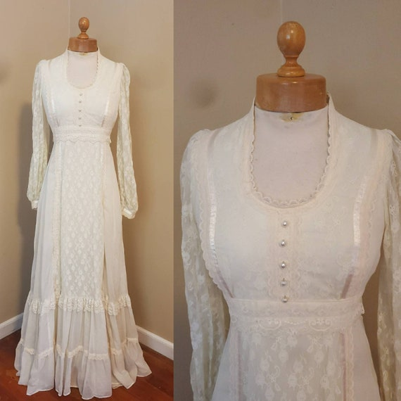 Gunne Sax 1970s dress prairie wedding dress