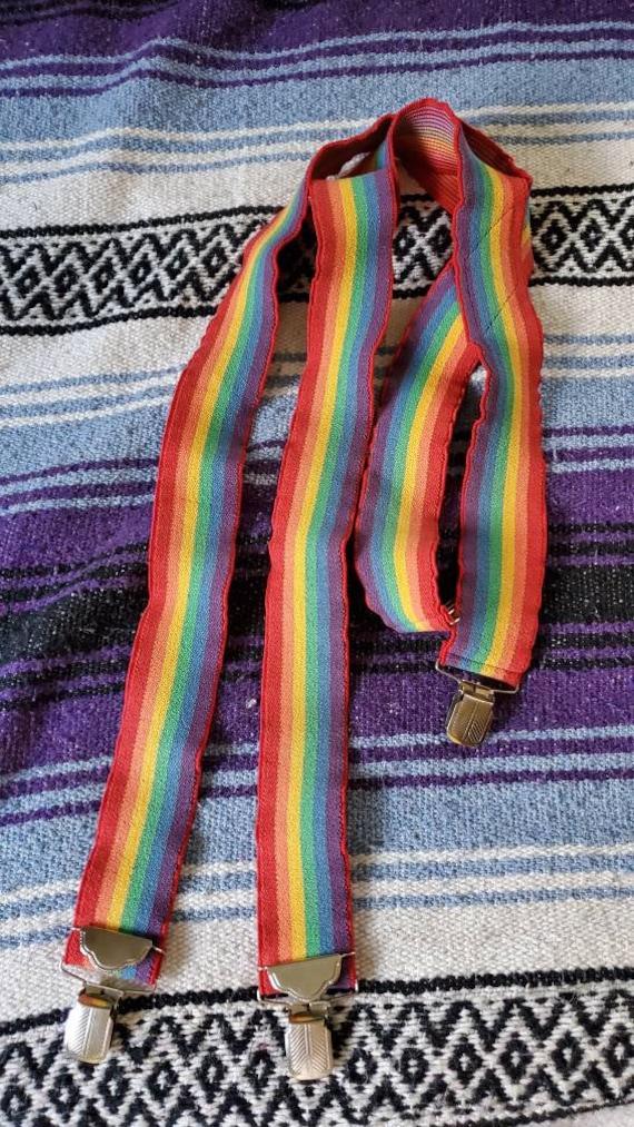 Vintage Rainbow suspenders •size large