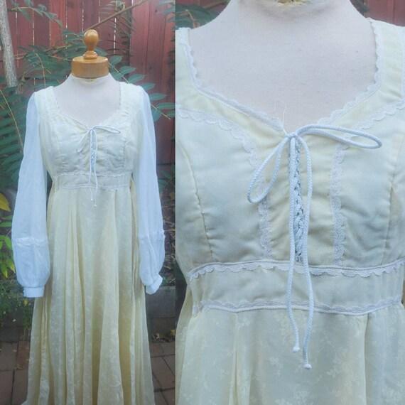 1970s Gunne Sax dress