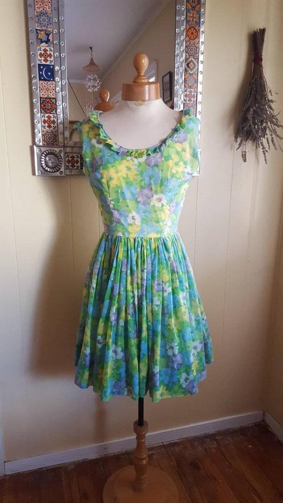 1960s babydoll dress vintage dresses floral print