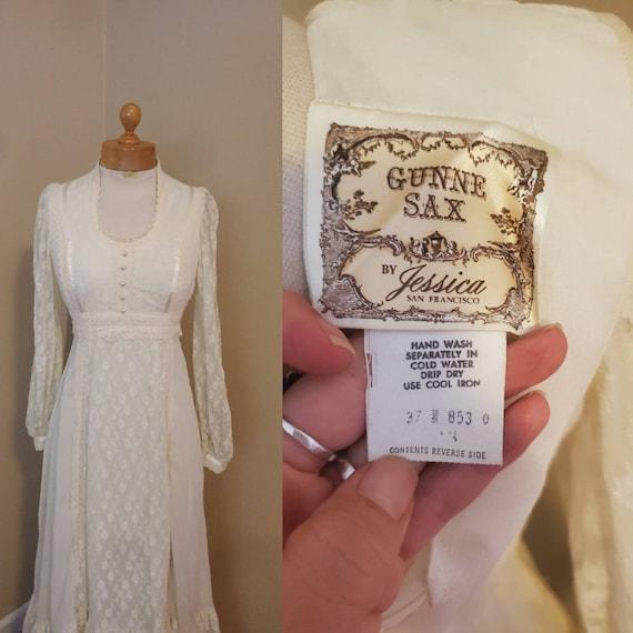 Gunne Sax 1970s dress prairie wedding dress - image 2