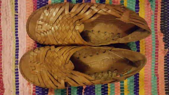 Woman's Mexican Leather Huarache | size 7.5 Leathe