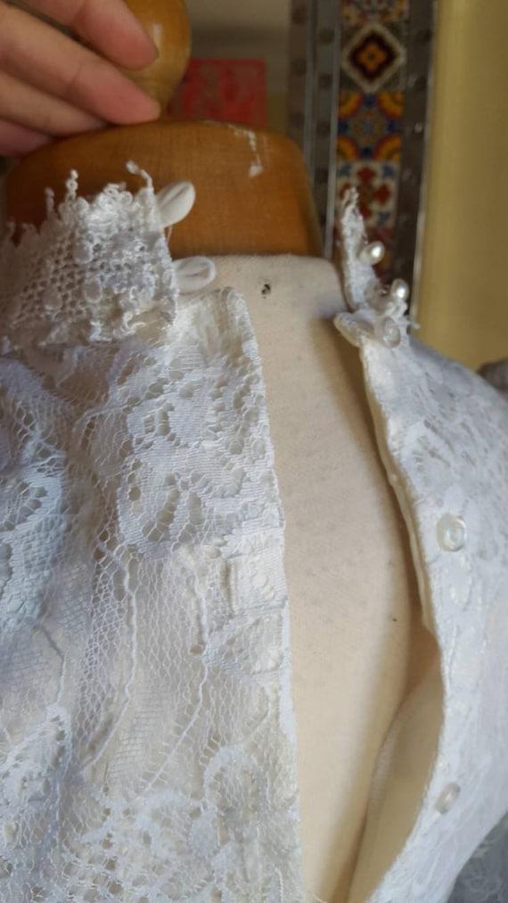 1970s white Gunne Sax Jeunes Filles mini prairie … - image 8