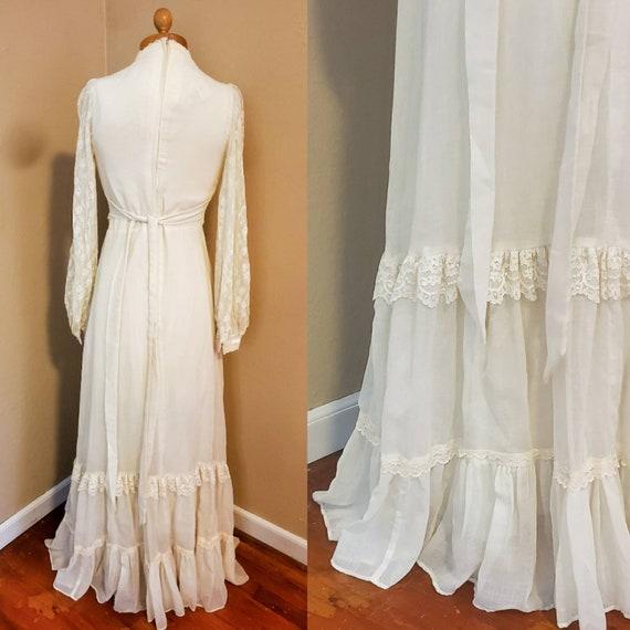 Gunne Sax 1970s dress prairie wedding dress - image 6