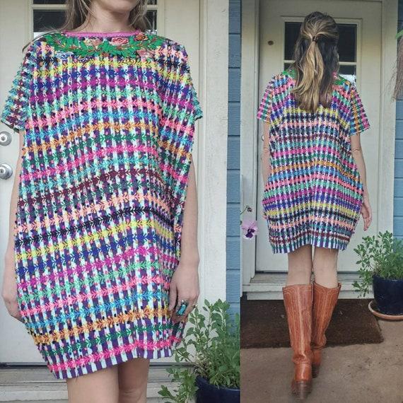 Vintage Mexican Huipil dress • medium - image 7