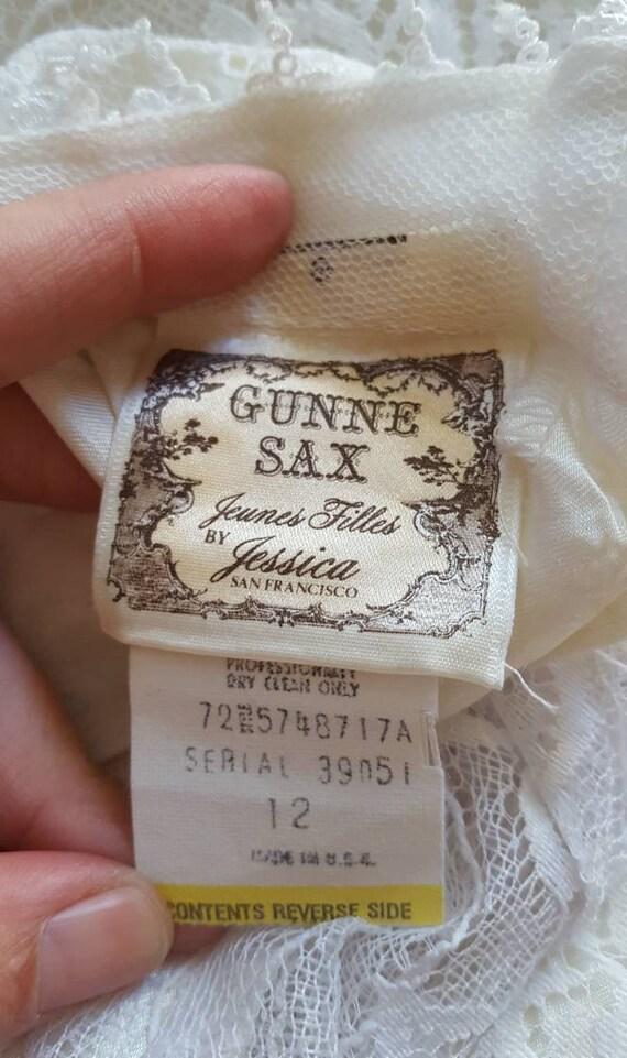 1970s white Gunne Sax Jeunes Filles mini prairie … - image 10