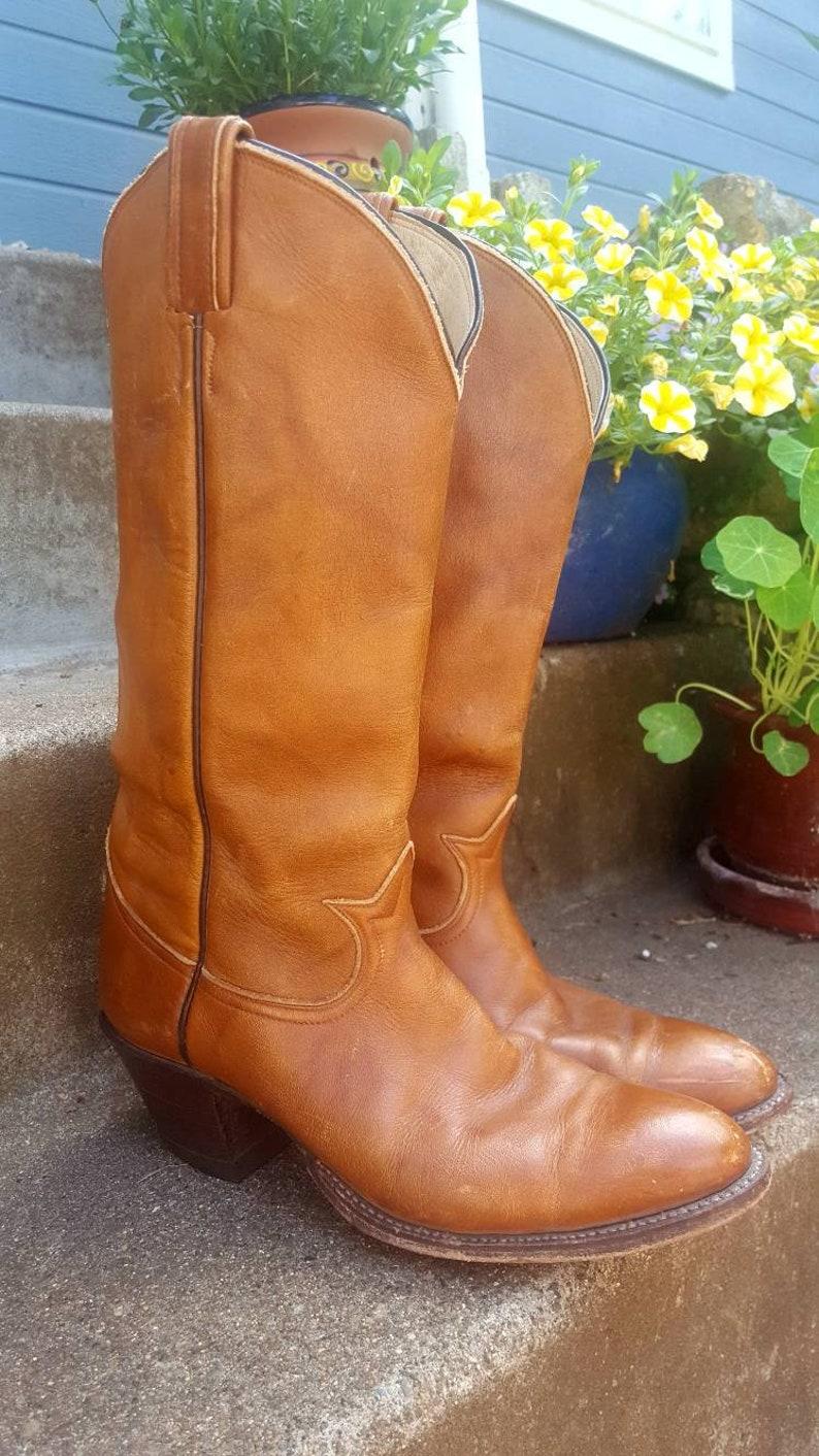 Vintage men/'s cowboy boots size 8 Tony Lama El Paso boots