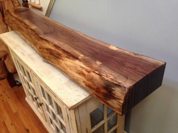 Custom Sizes Only Live Edge And Beam Wood Mantels Etsy