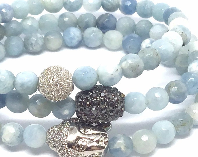 Faceted Aquamarine Bracelet.  Considered a Stone of Eternal Youth
