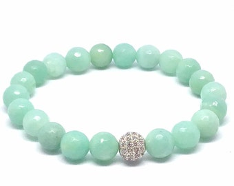 Amazonite Gemstone Bracelet- Helps communicate ones thoughts