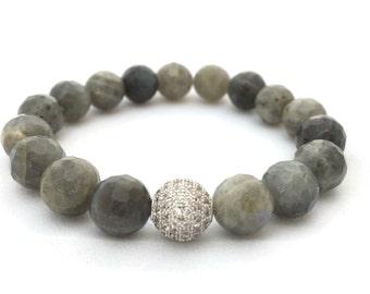 Gray Faceted Labradorite ~ A Power Stone