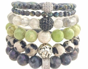 Healing and Grounding Bracelet Stack