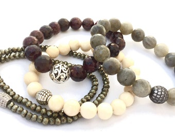 Neutral CLASSIC Stack Bracelets